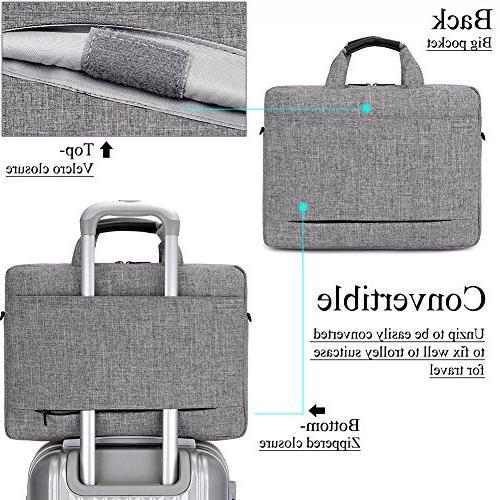 Computer Shoulder Bag Side Pockets Detachable for Netbook/Chromebook,Colour Grey