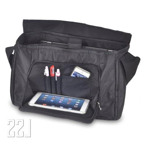 """LSS Compartment Shoulder Messenger Bag with Carrying 17"""" & Smaller Size"""