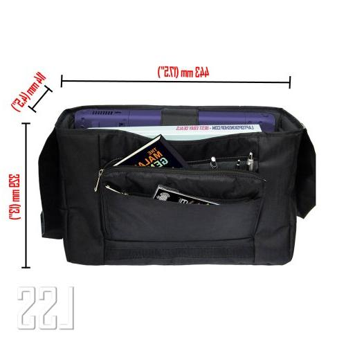 """LSS 17-17.3"""" Compartment with Colorful Print Carrying Case 16"""" 17"""" & Size Notebook"""