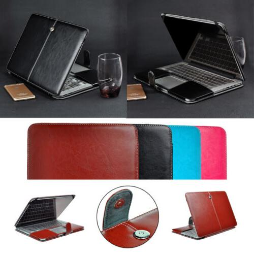 laptop pu leather folio case shell protect