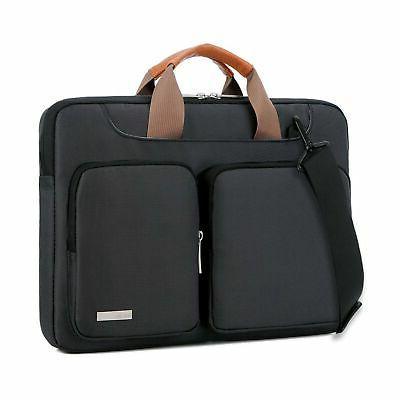 Lacdo 15.6 Inch Laptop Shoulder Bag, 360° Protective Sleeve