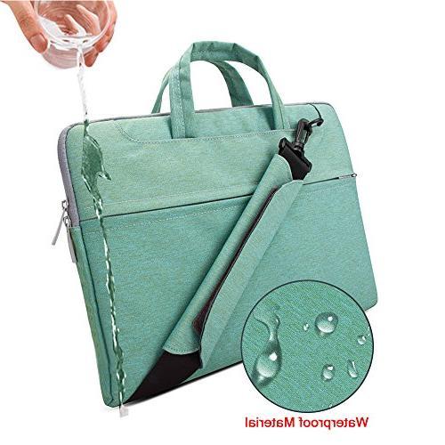"Lacdo Inch Fabric Laptop Bag Notebook Case 15.4-inch Protective 15.6"" Ultrabook ASUS Inspiron Lenovo HP Chromebook, Green"