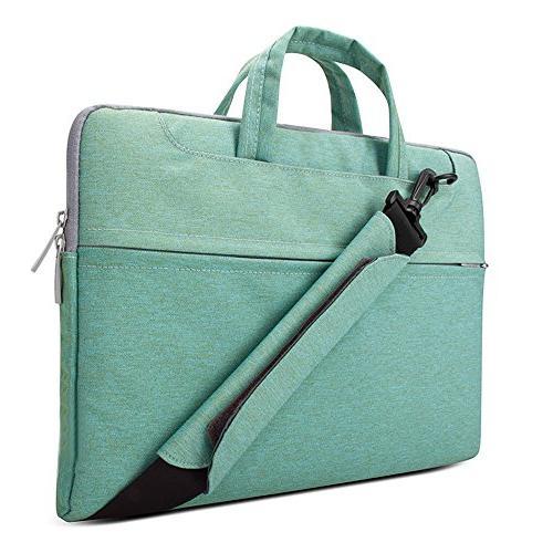 Lacdo Fabric Laptop Bag Laptop Bag Case for Macbook Pro 15.4-inch Protective Ultrabook Inspiron Lenovo HP Green