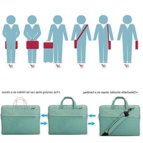 Lacdo 15-15.6 Fabric Laptop Laptop Bag Case 15.4-inch Protective Ultrabook ASUS Inspiron Lenovo Green