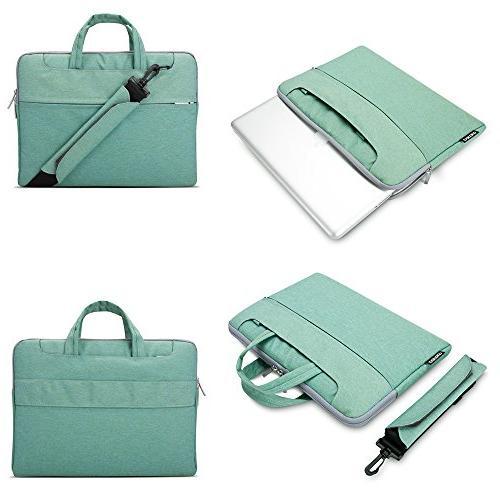 "Lacdo Inch Fabric Shoulder Laptop Sleeve Case Macbook 15.4-inch / 15.6"" Ultrabook Inspiron Lenovo Green"