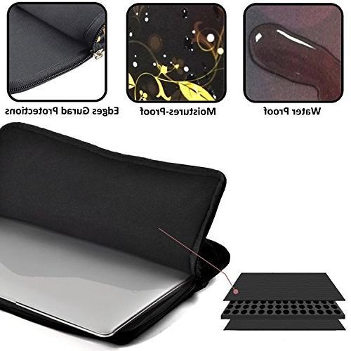 CHJOO Laptop Sleeve Colorful Dinosaur 13/15 Bags Waterproof Messenger