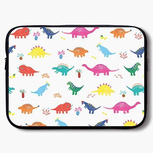 laptop sleeve bag colorful dinosaur