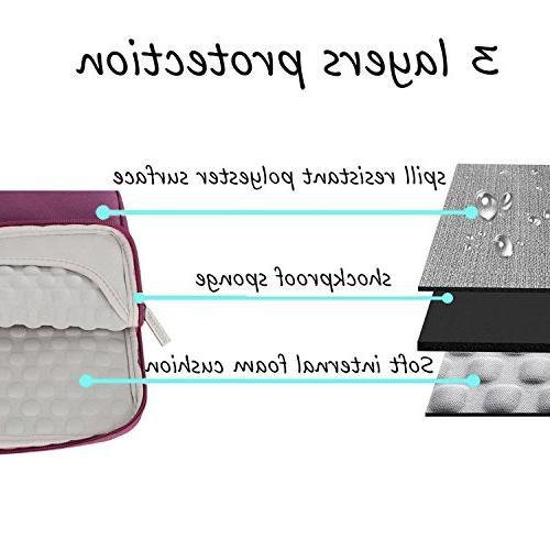 MOSISO Sleeve Handbag MacBook Pro, Polyester Fabric Multifunctional Case Wine Red