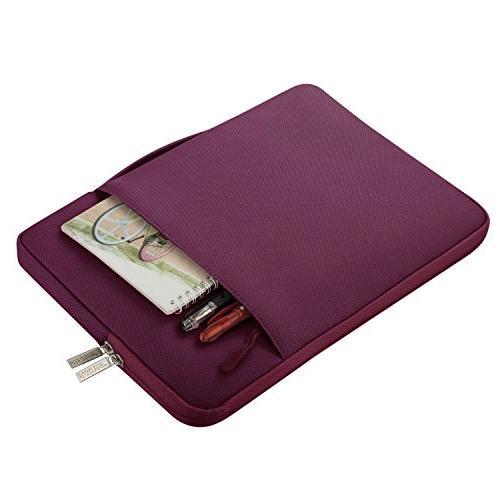MOSISO Laptop Briefcase Handbag Compatible 15-15.6 MacBook Wine