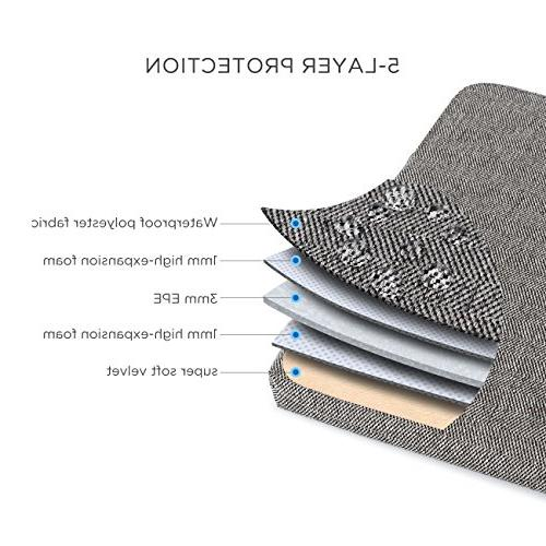 """DOMISO Sleeve Canvas Tablet Bag for Laptops/13"""" MacBook Pro Inspiron XPS 13/Lenovo YOGA 720 13.3""""/ASUS/Acer/HP/MSI, Grey"""