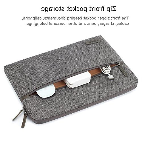 """DOMISO 13.3 Sleeve Canvas Bag for Laptops/13"""" Inspiron 13 XPS 13/Lenovo YOGA 720 13.3""""/ASUS/Acer/HP/MSI,"""
