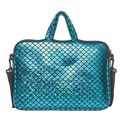 Laptop Sleeve Case Inch Carrying Bag Mermaid Women Blue