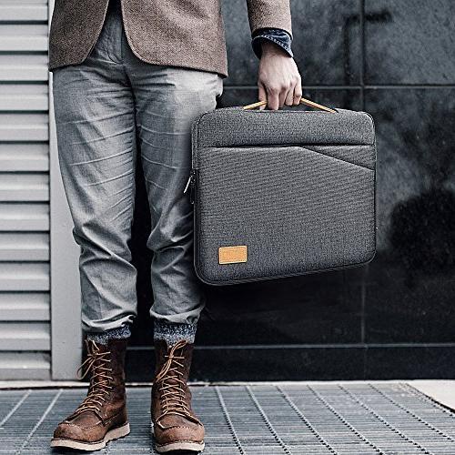 Winrock Inch Sleeve - 15.6 Inch Macbook Pro/ProRetina Dell Asus Ultrabooks Tablets, Handle Spill-Resistant Handbag, Grey
