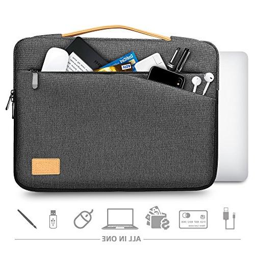 Winrock Laptop Sleeve for 15 - 15.6 Pro/ProRetina HP Asus Thinkpad Notebooks Ultrabooks with Handle Spill-Resistant Laptop Briefcase Grey