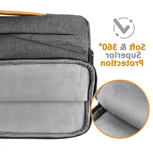 Winrock 15 Inch Sleeve - 15.6 Pro/ProRetina HP Asus Laptops Notebooks Ultrabooks with Spill-Resistant Briefcase Handbag, Grey