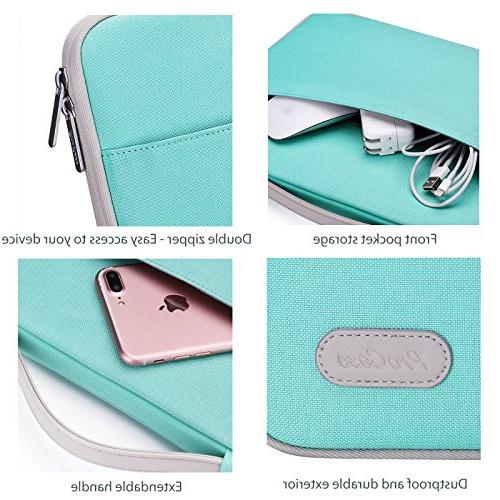 "ProCase - Inch Laptop Sleeve Carrying Handbag 14"" ASUS Dell HP Chromebook -Mint Green"