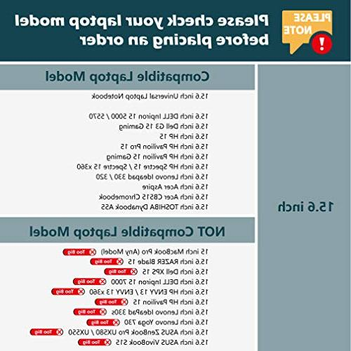 "CAISON 15.6 inch Case for Pavilion Pro Inpiron 15 15 15.6 inch 320/15.6"" Acer 6 Aspire 3 CB515"