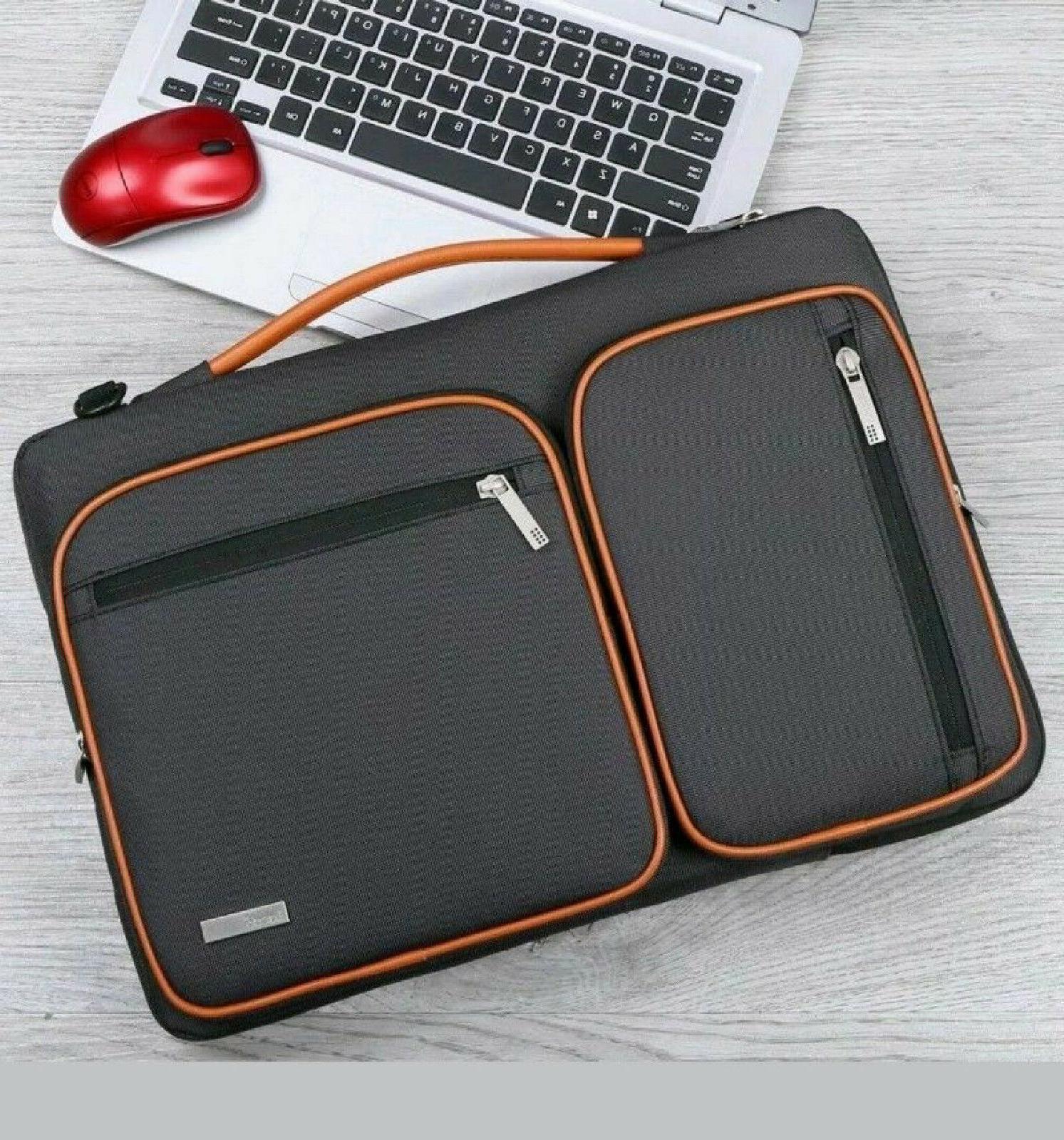 Lacdo Laptop Tablet Bag SHOCKPROOF ZIP Pockets