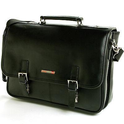 Alpine Leather Briefcase Laptop Bag *1