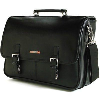 leather briefcase laptop case messenger bag 1