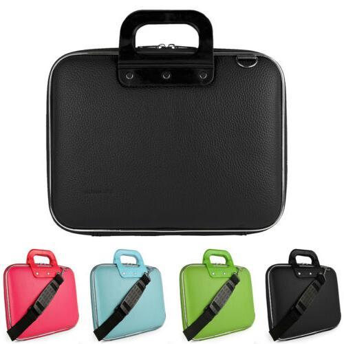 leather laptop shoulder bag carry case