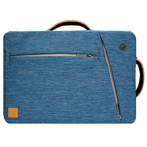 Lightweight Blue Hybrid Messenger/Briefcase/Backpack Bag for