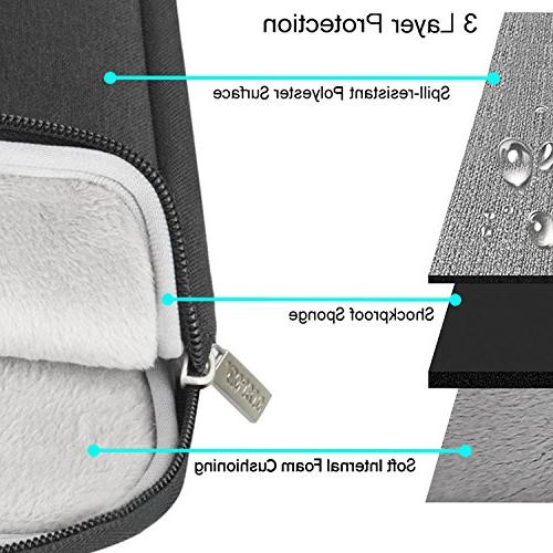 MOSISO Laptop Dell Acer Lenovo Chromebook Notebook Ultrabook, Flapover Briefcase Case, Black