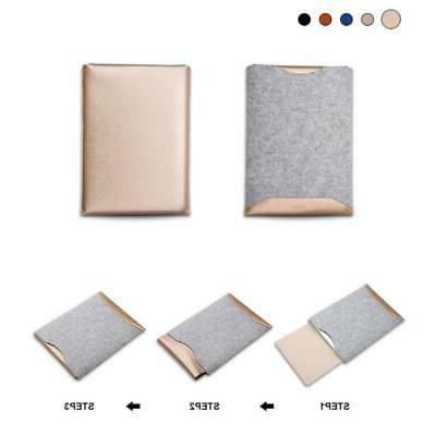 For 13 15 Notebook Leather Laptop Sleeve Cover