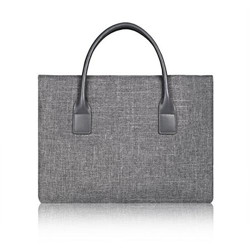 ARVOK Protective Sleeve with Accessory & Sturdy Computer Bag for MacBook Grey