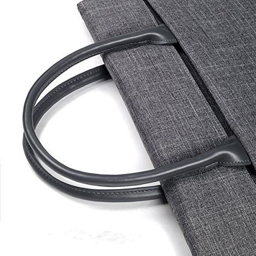 ARVOK Laptop with Accessory Pocket Handbag for MacBook Pro Netbook Ultrabook Grey
