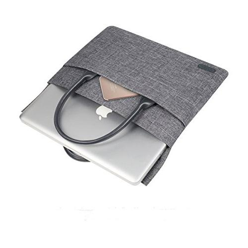 ARVOK with Sturdy Handle Computer Carrying Handbag for MacBook Pro Netbook Ultrabook Tablet, Grey