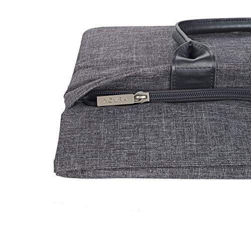 ARVOK with Computer Case Handbag Canvas Briefcase for Netbook Ultrabook Tablet, Grey