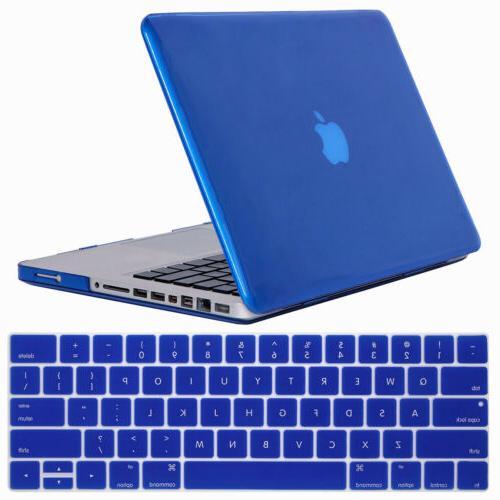 """For Macbook Pro 15"""" Inch Rubberized Laptop Case w/ Clear Keyboard"""