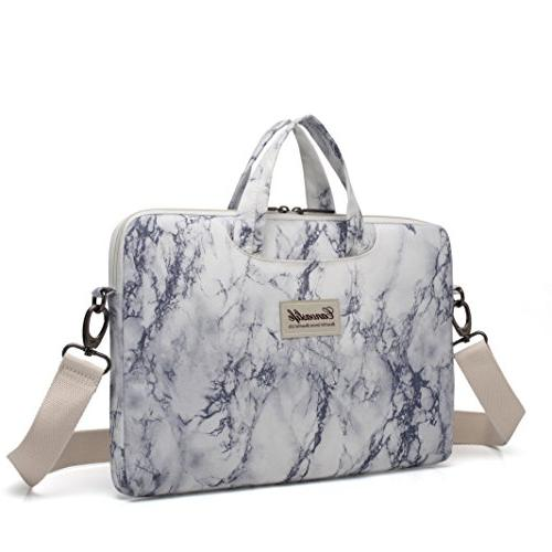 marble pattern canvas laptop shoulder