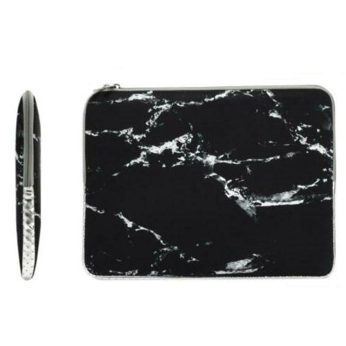 marble pattern zipper sleeve bag case compatible