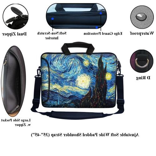 """Meffort Inc 15 inch Sleeve Side Pocket, Carrying Handle & Removable Strap for 15.6"""" Size The"""