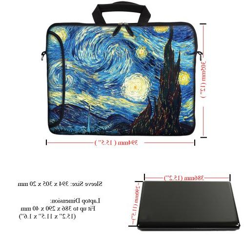 """Meffort Inc 15.6 inch Laptop Bag Pocket, Handle & Removable for to 15.6"""" Size Notebook Computer The Starry"""
