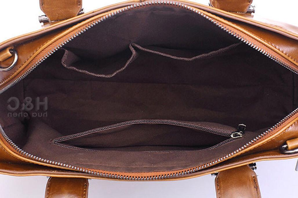 Men's Briefcase Case PU Leather Messenger Laptop