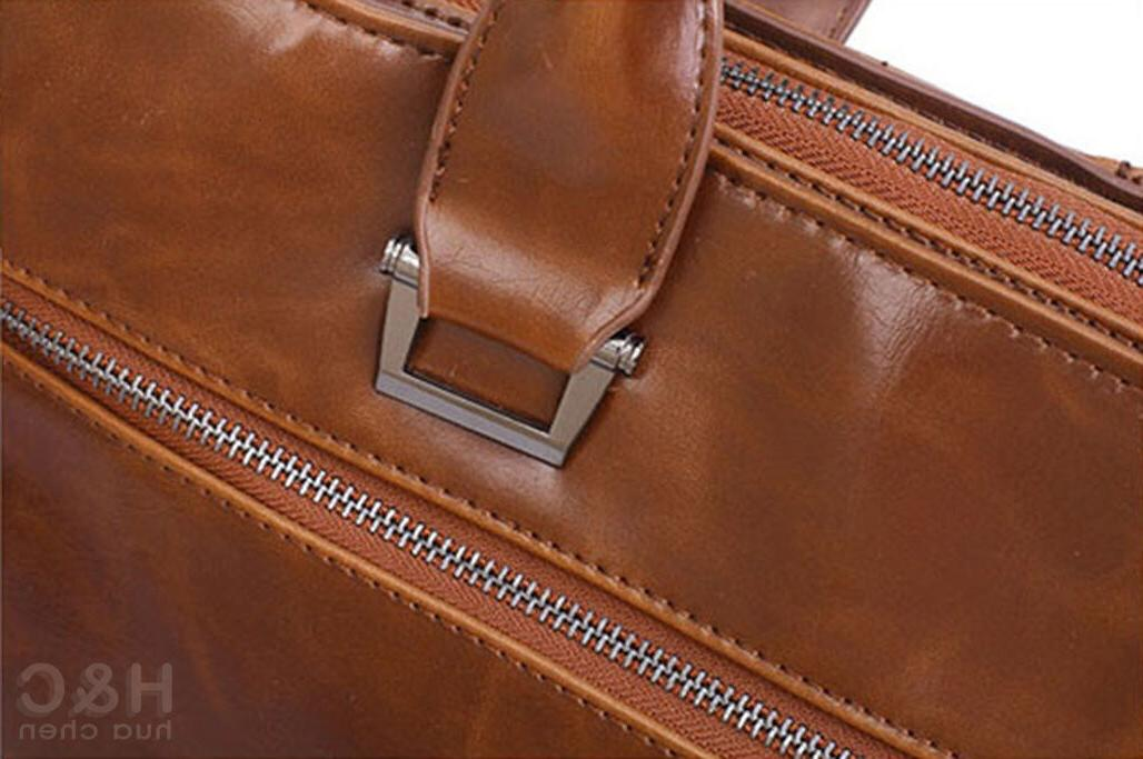Men's Portfolio Case PU Messenger Bag