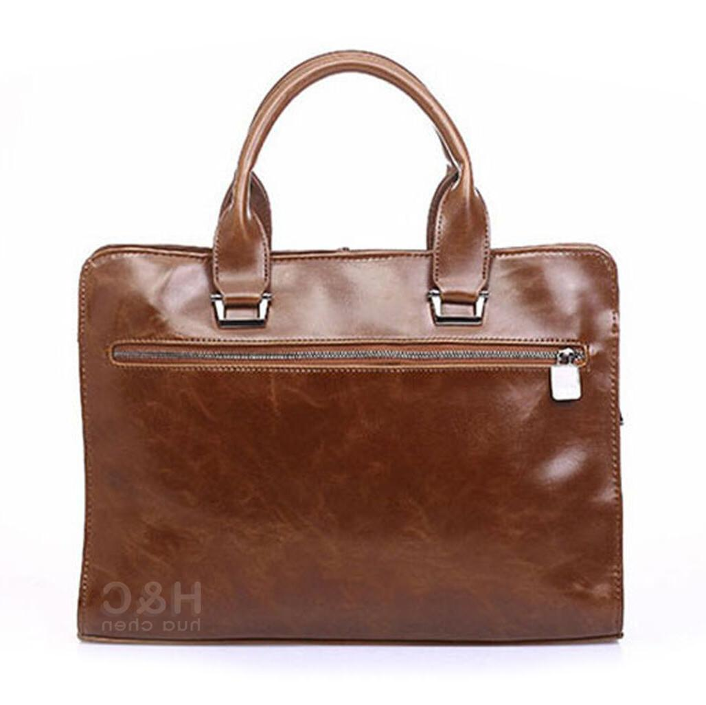 Men's Case PU Leather Messenger Laptop Bag