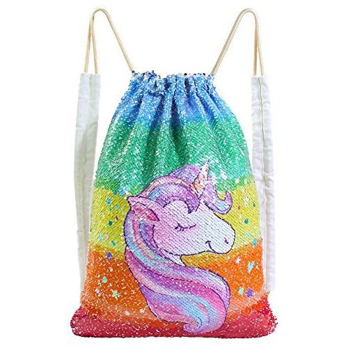 mermaid bag sequin drawstring backpack