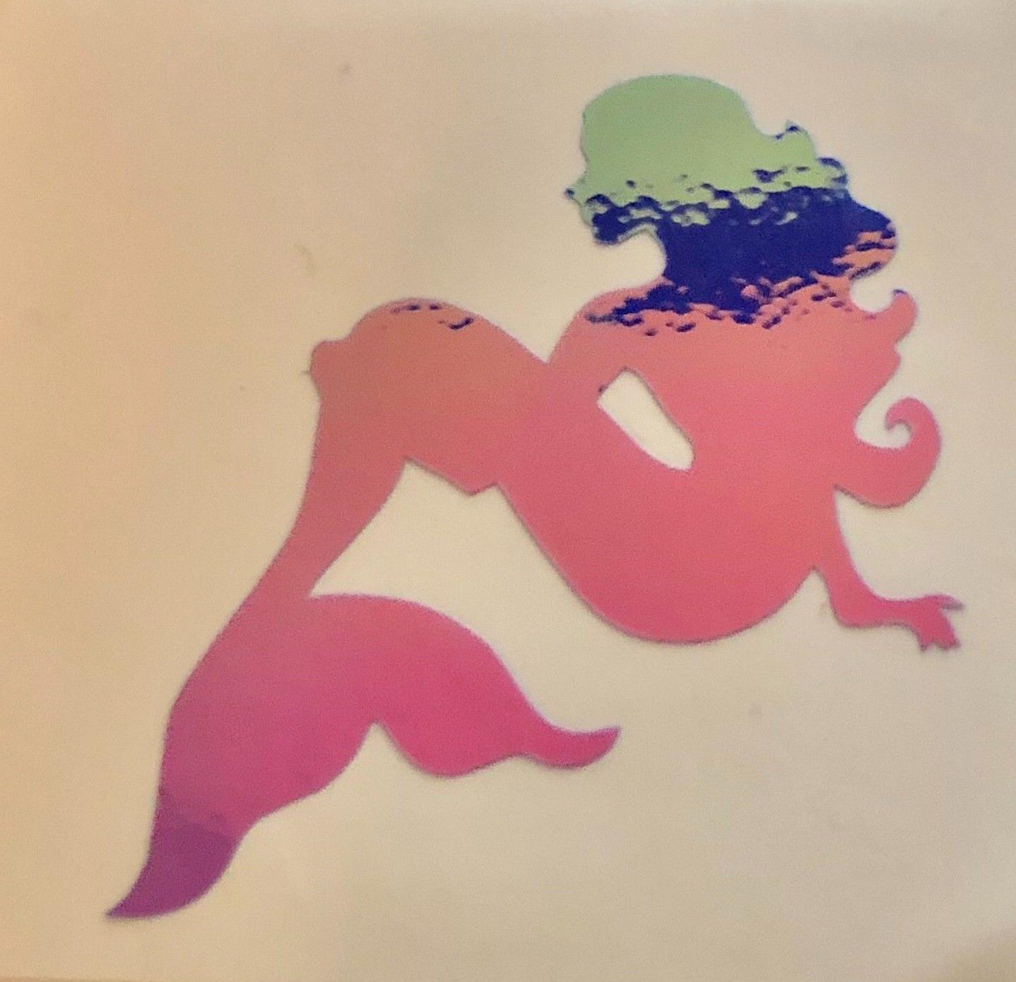 mermaid holographic vinyl sticker tumblers cars window