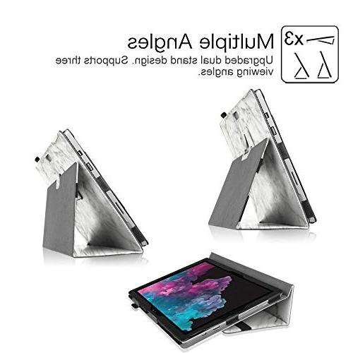 Fintie Pro 6 Case Leather Folio Cover with Stylus Holder, with Surface / Pro and Type Cover