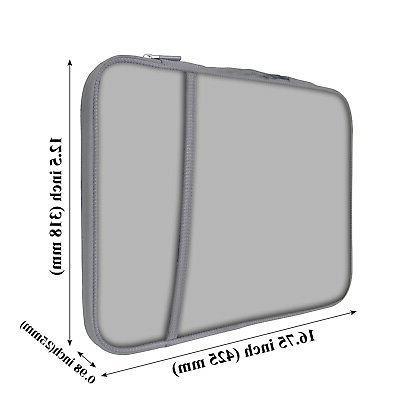 Neoprene Briefcase Bag w Side Pocket Fits up 15.6 inch - Gray