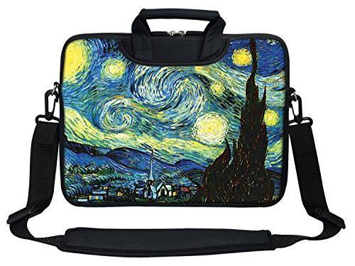 neoprene laptop shoulder briefcase bag