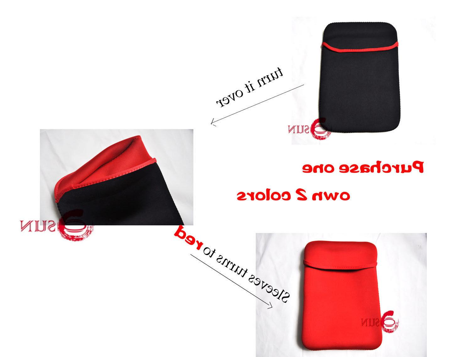 New 17 17.3 inch Laptop NetBook Carry Pouch Red Black