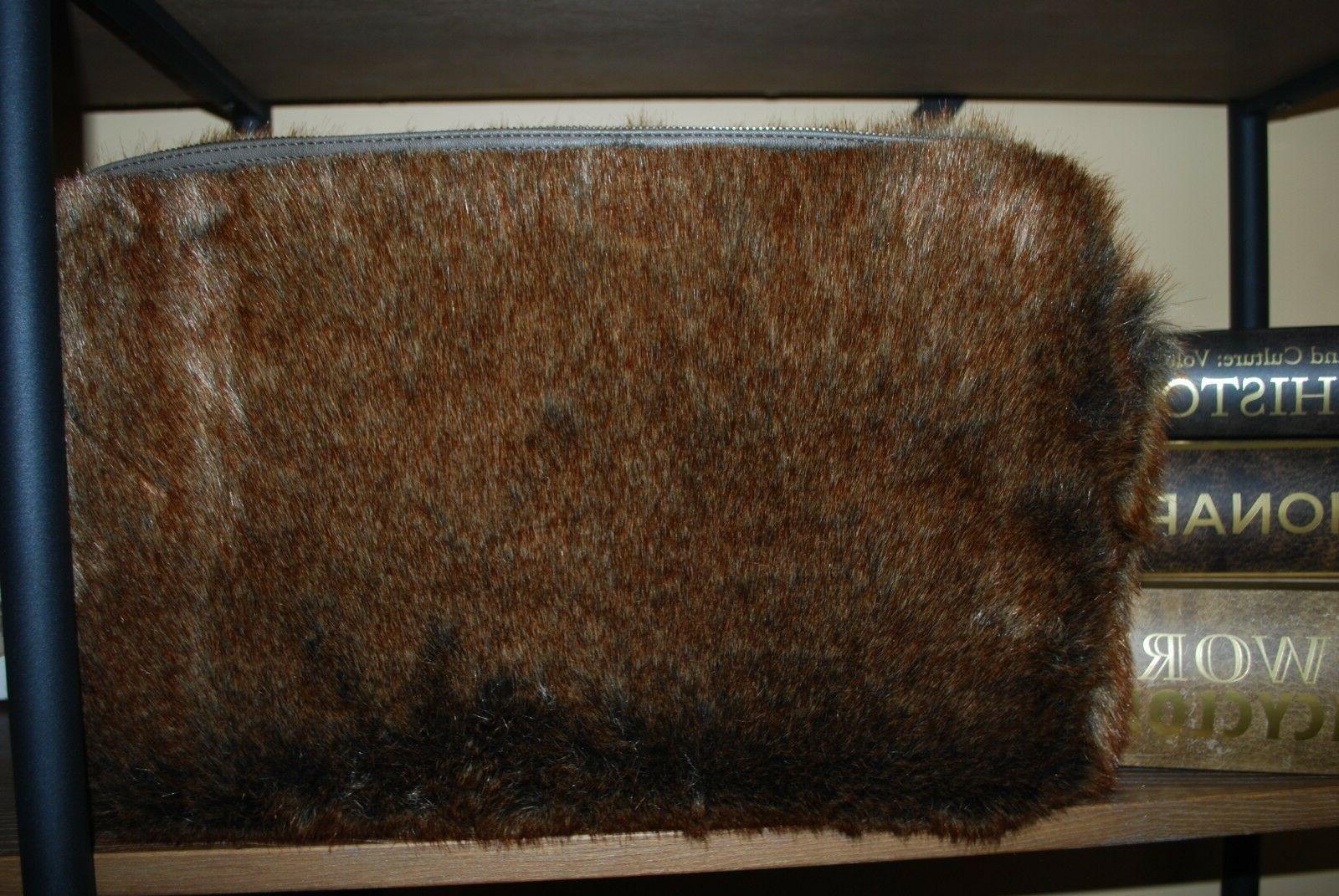 new faux fur coyote laptop computer bag