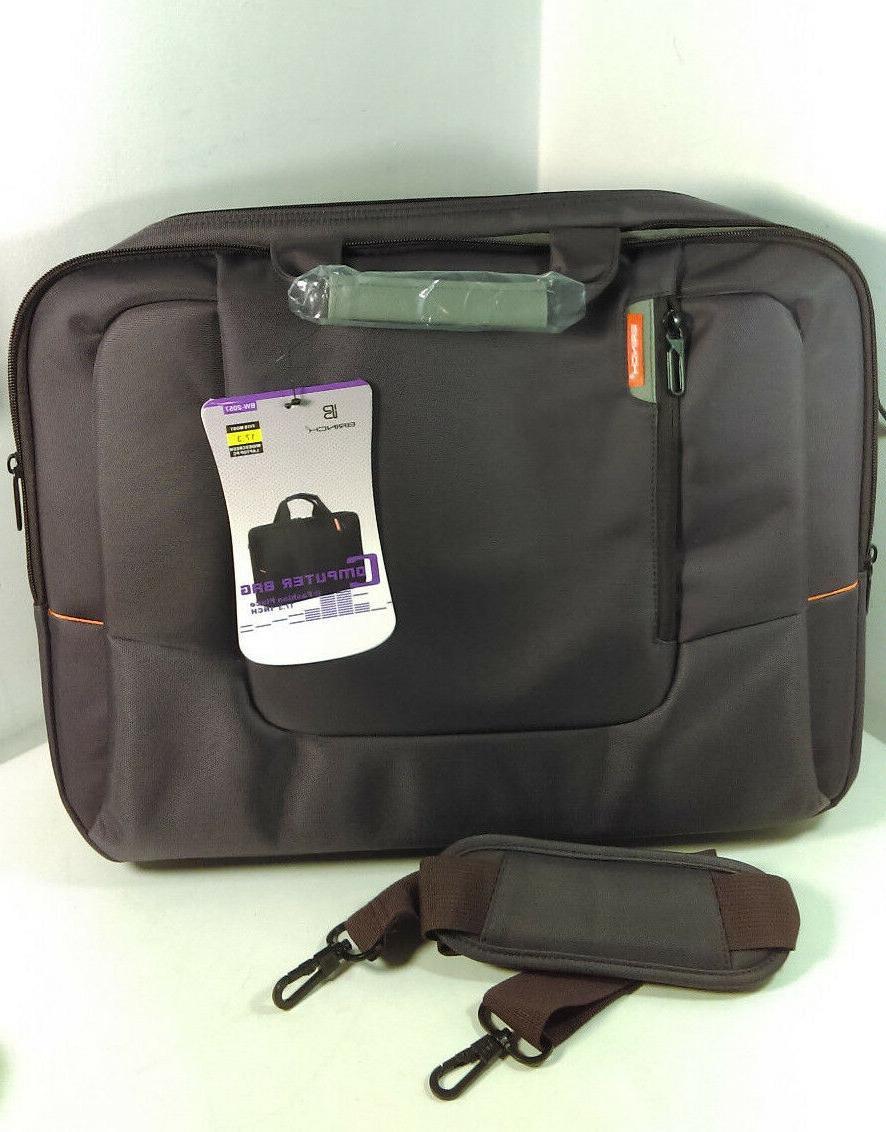 "Brinch New Style Soft Nylon Laptop Case Fits Most 17.3"" Purp"