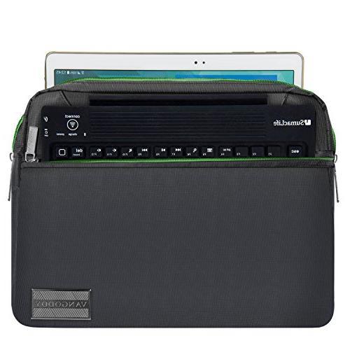 "NineO 10"" Nylon College Bag for Samsung 10.6""/Samsung ChromeBook Plus Galaxy Book 10.6""/Tab S3"