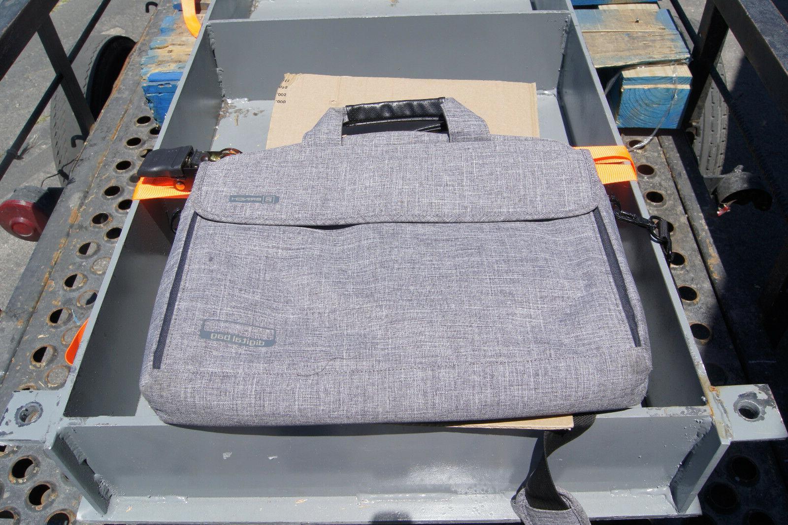 nylon shockproof carry laptop case messenger bag